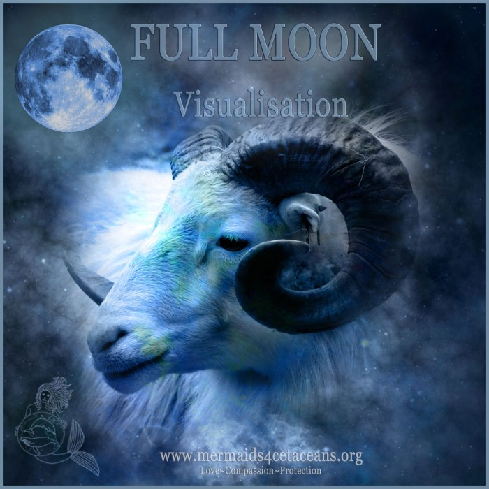Full Moon in Aries visualisation